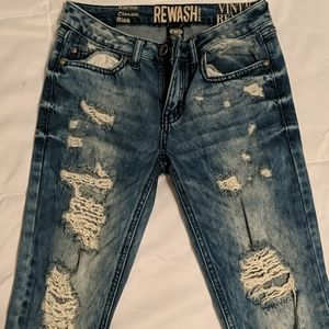 Ripped/Distressed Blue Jeans
